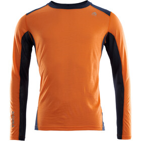Aclima LightWool Longsleeve Sportshirt Heren, orange popsicle/navy blazer
